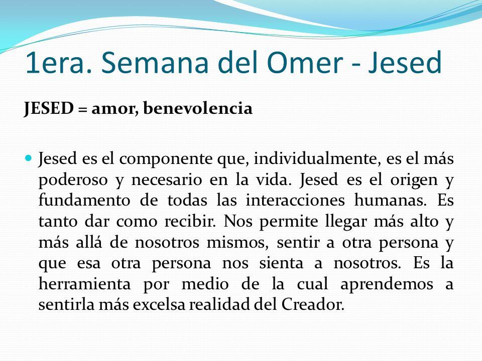 1era. Semana del Omer - Jesed