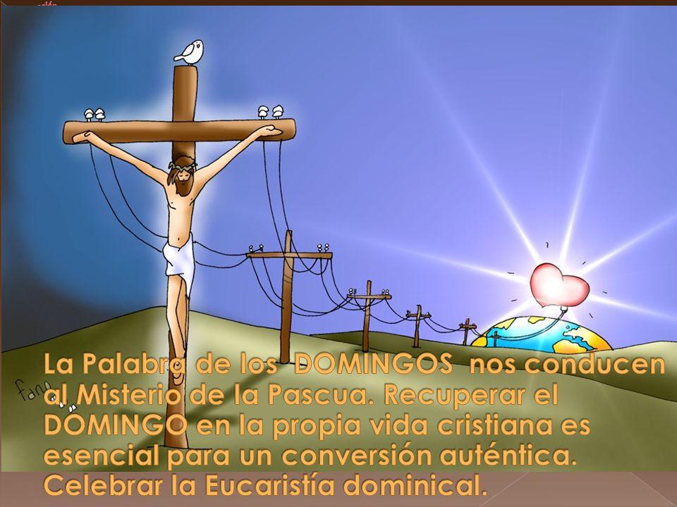 La Palabra de los DOMINGOS nos conducen al Misterio de la Pascua