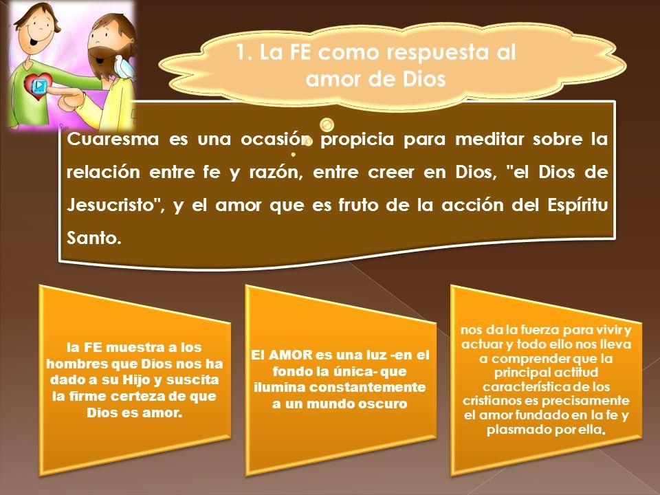 1. La FE como respuesta al amor de Dios