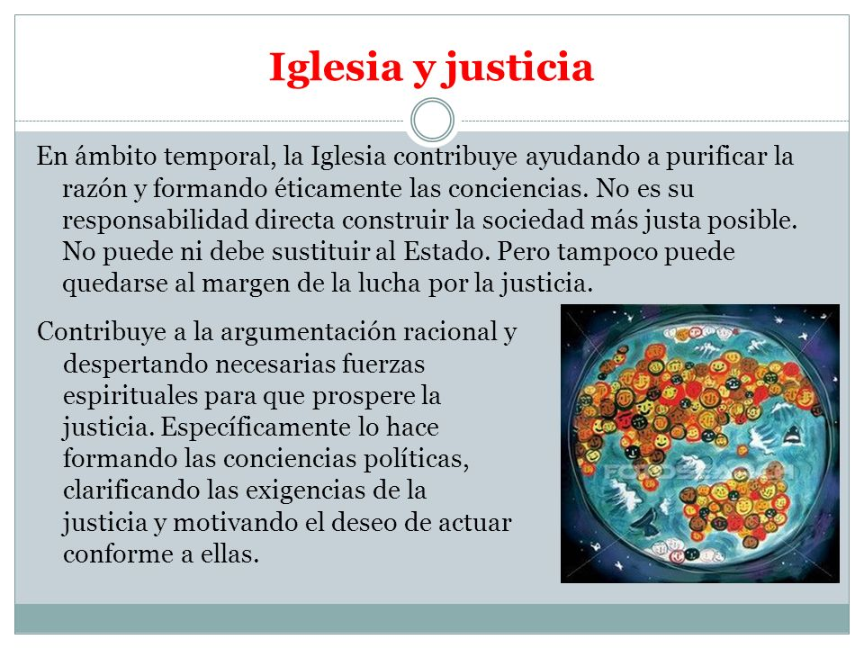 Iglesia y justicia