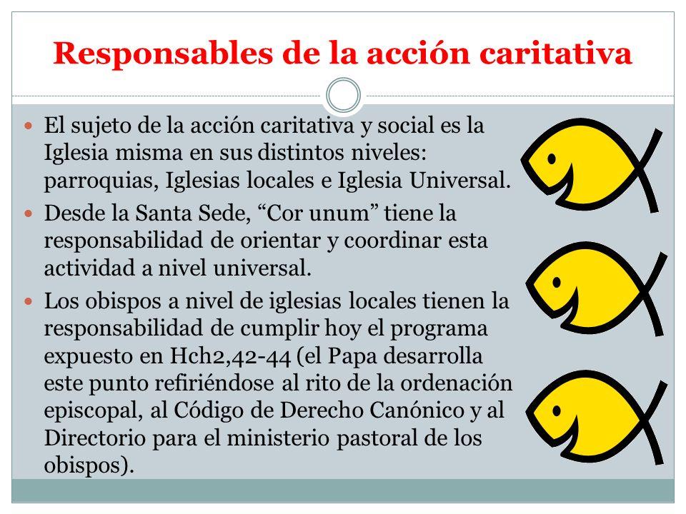 Responsables de la acción caritativa