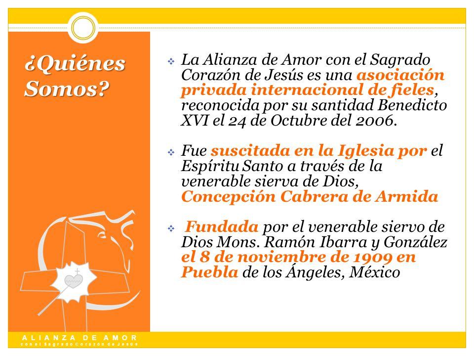 La Alianza de Amor con el Sagrado Corazón de Jesús es una asociación privada internacional de fieles, reconocida por su santidad Benedicto XVI el 24 de Octubre del 2006.