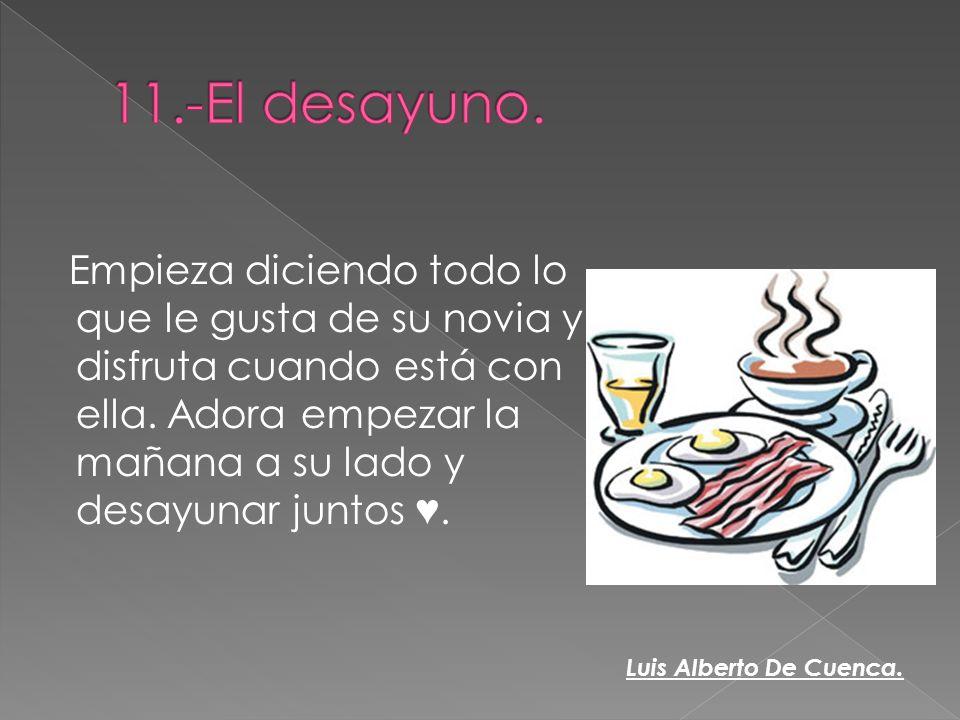 11.-El desayuno.