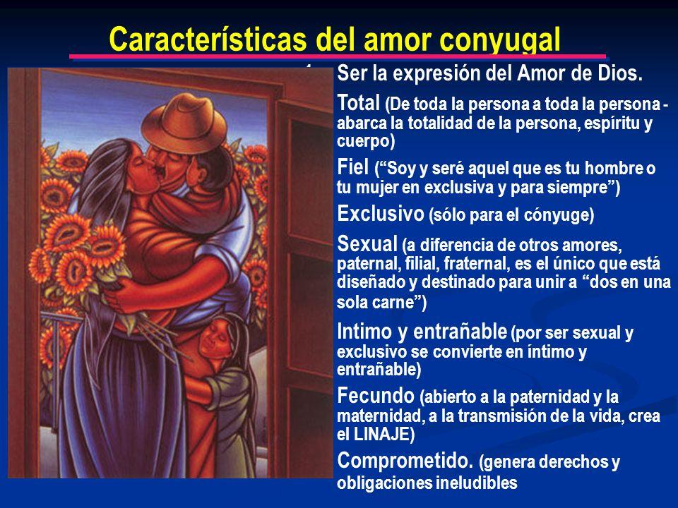 Características del amor conyugal