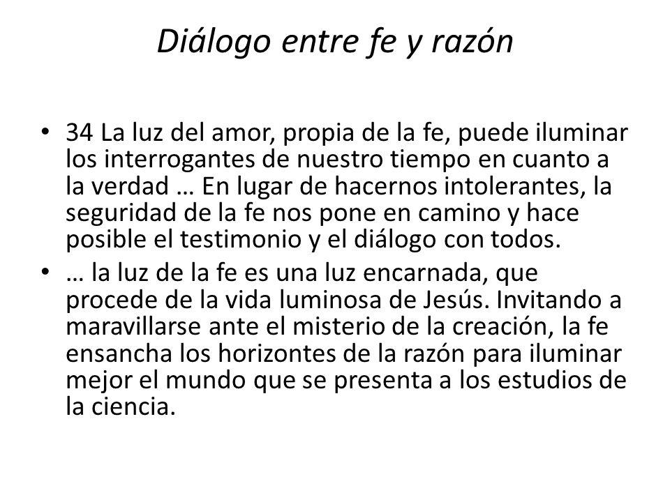 Diálogo entre fe y razón