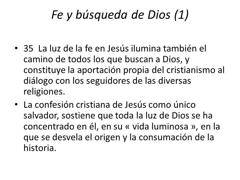 Fe y búsqueda de Dios (1)