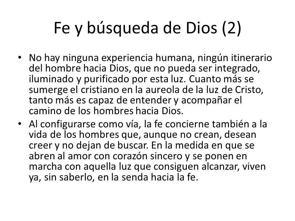 Fe y búsqueda de Dios (2)