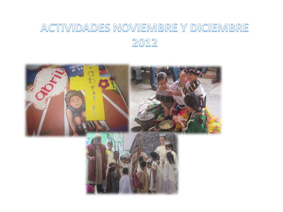 ACTIVIDADES NOVIEMBRE Y DICIEMBRE 2012