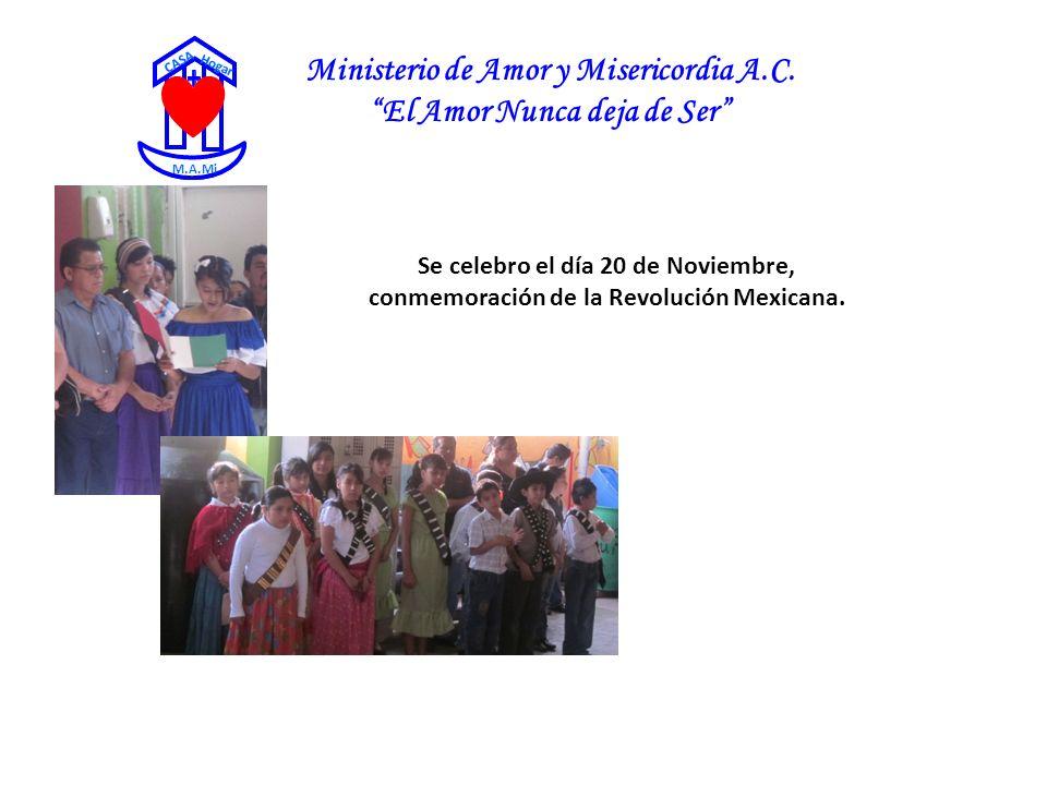 Ministerio de Amor y Misericordia A.C. El Amor Nunca deja de Ser