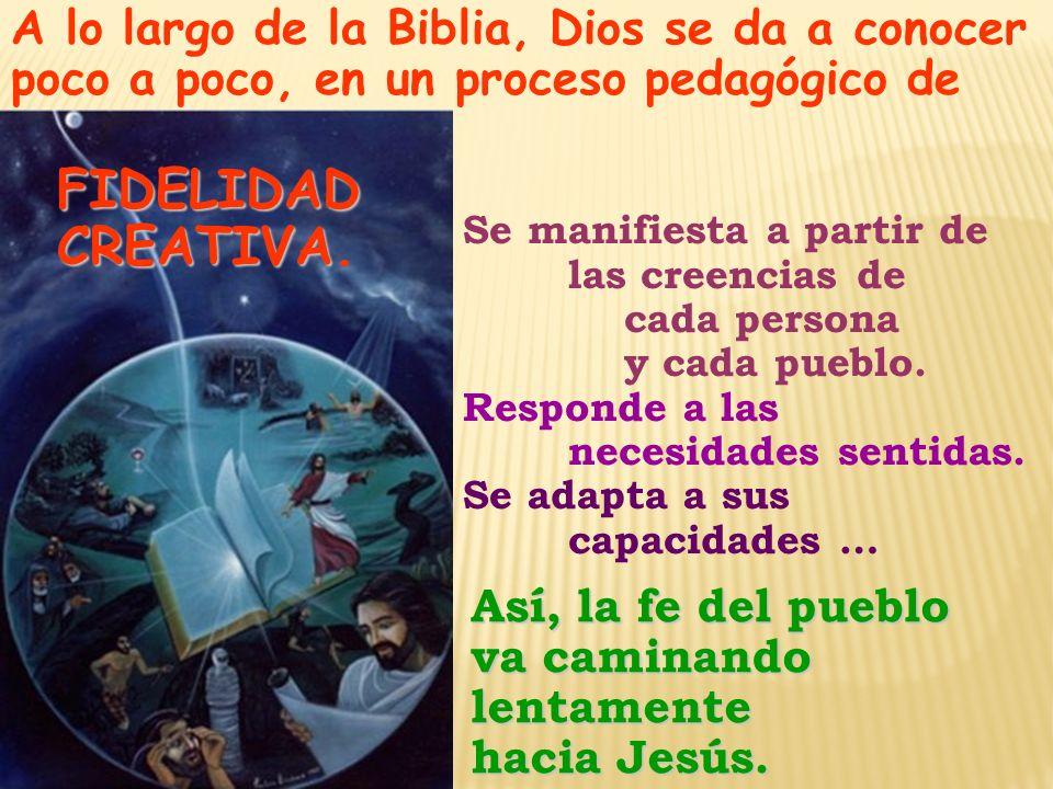 A lo largo de la Biblia, Dios se da a conocer poco a poco, en un proceso pedagógico de