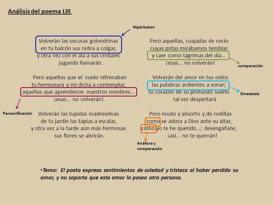 Análisis del poema LIII