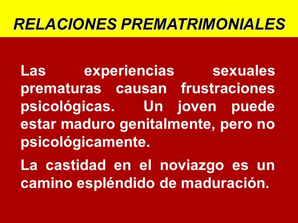 Las experiencias sexuales prematuras causan frustraciones psicológicas