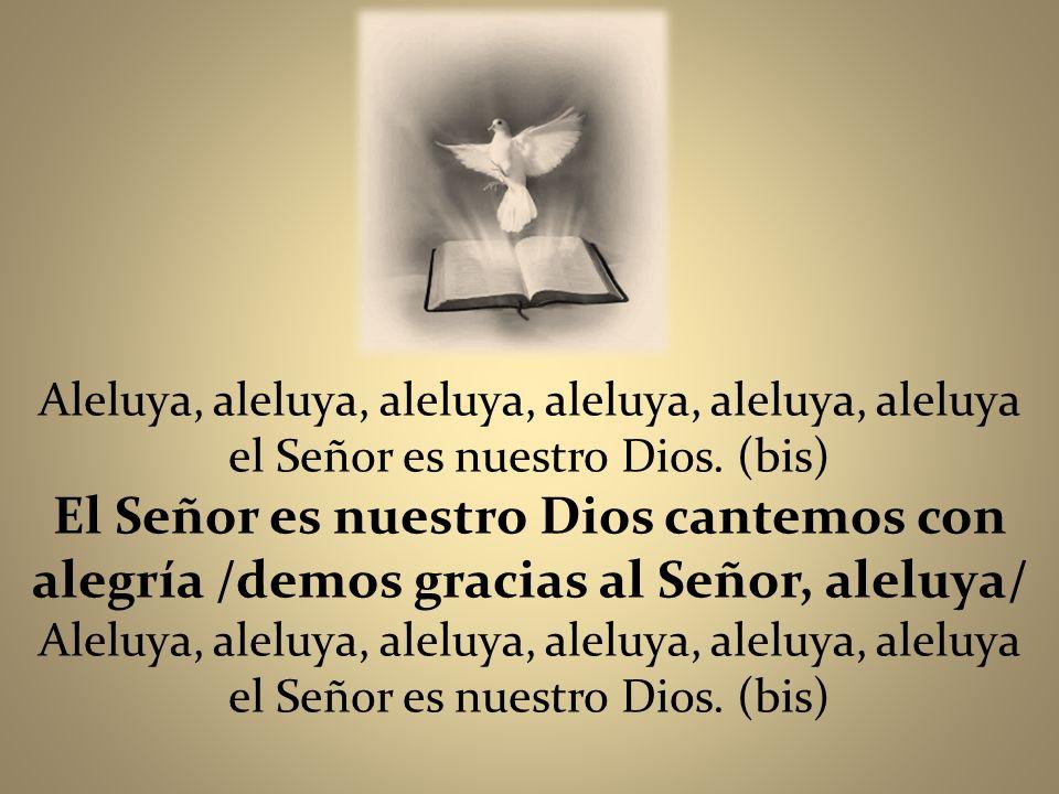 Aleluya, aleluya, aleluya, aleluya, aleluya, aleluya el Señor es nuestro Dios. (bis)