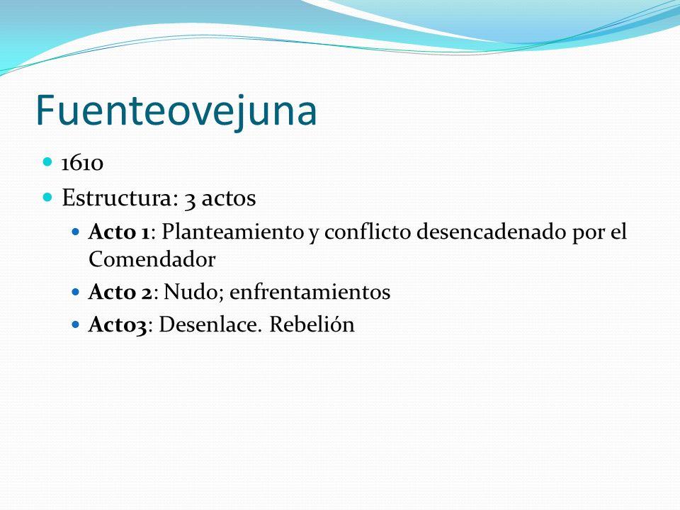 Fuenteovejuna 1610 Estructura: 3 actos