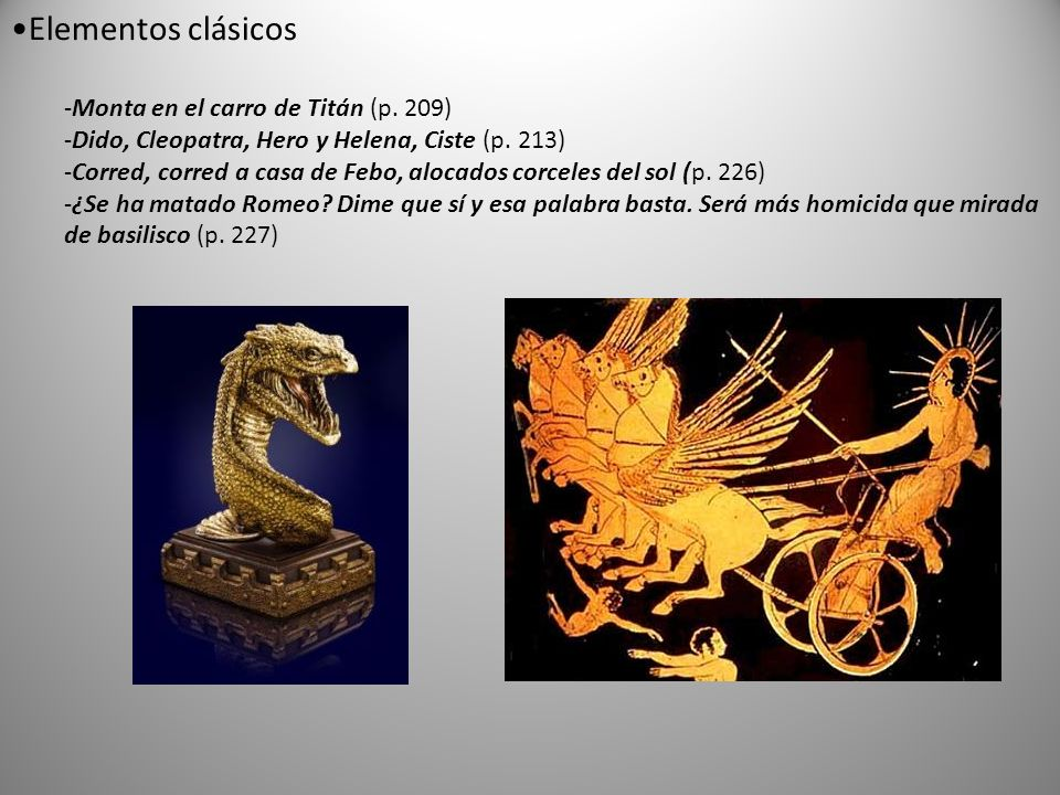 Elementos clásicos Monta en el carro de Titán (p. 209)