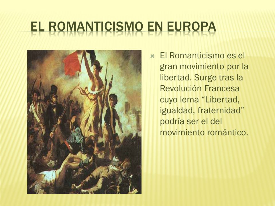 El Romanticismo en Europa