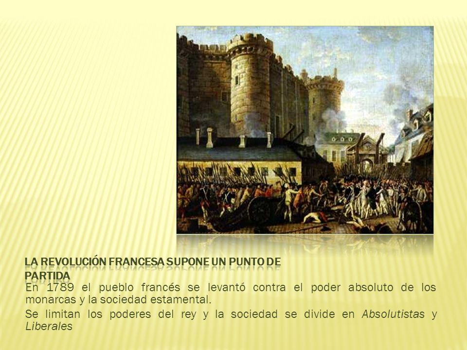 La revolución francesa supone un punto de partida