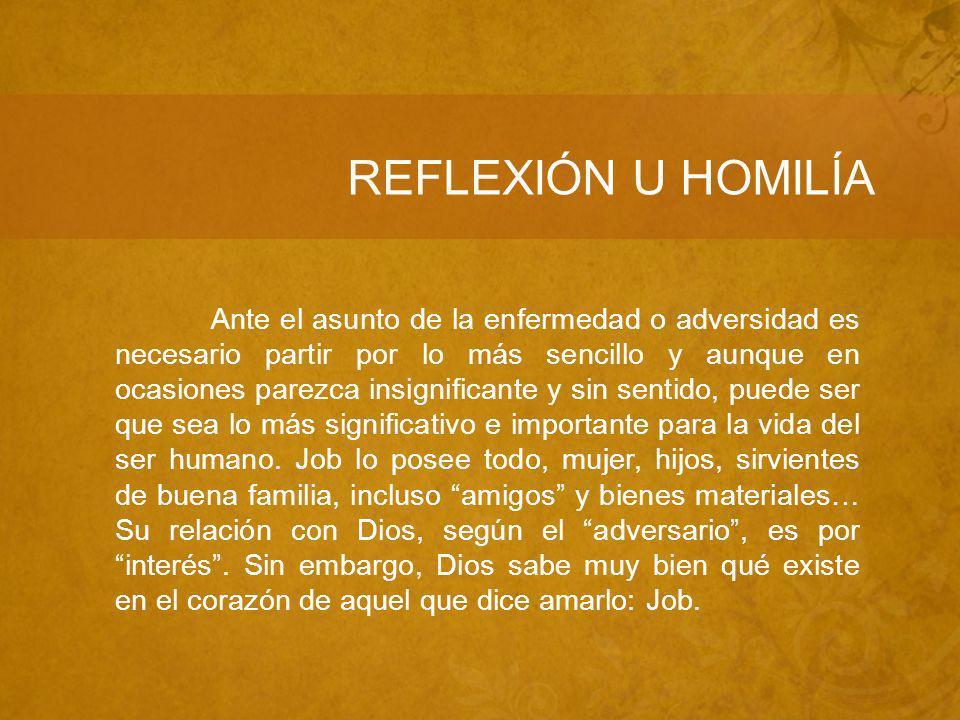 REFLEXIÓN U HOMILÍA