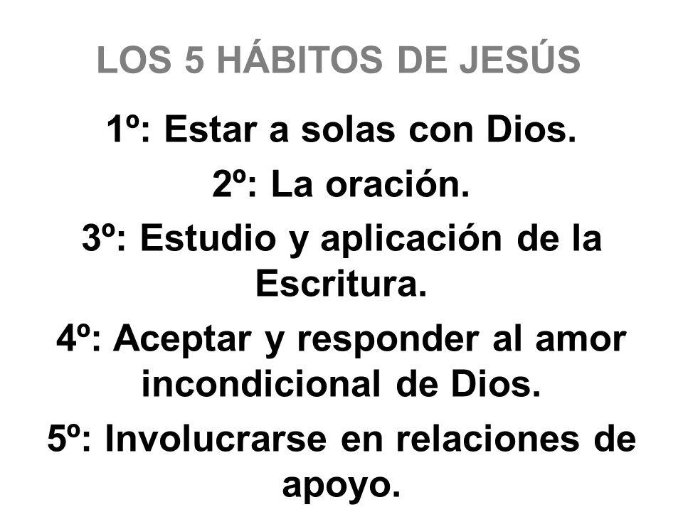 1º: Estar a solas con Dios. 2º: La oración.