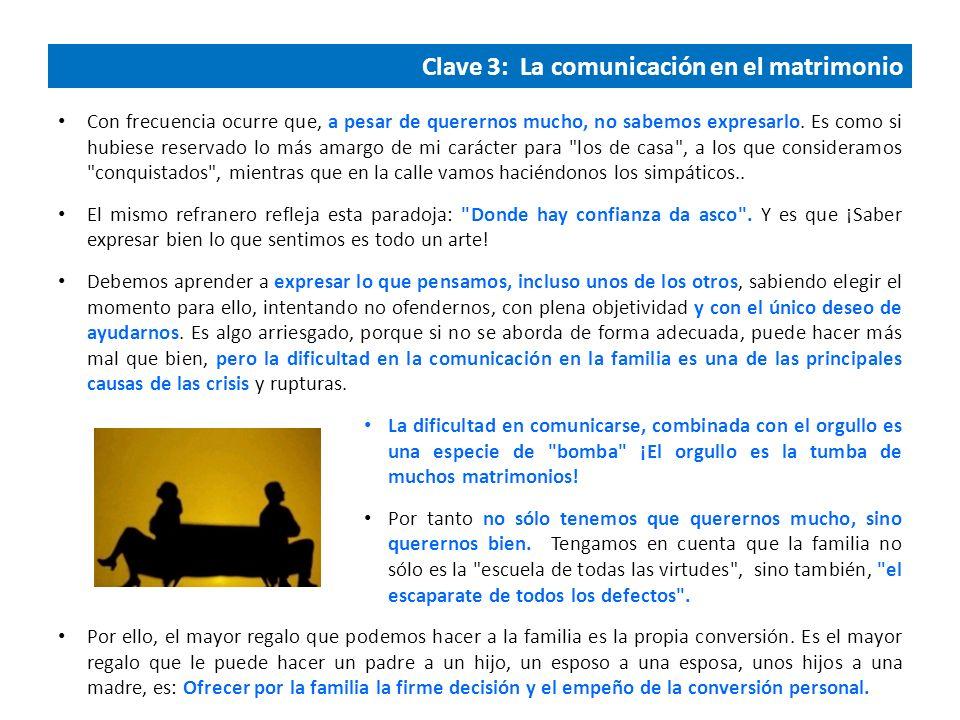 Clave 3: La comunicación en el matrimonio