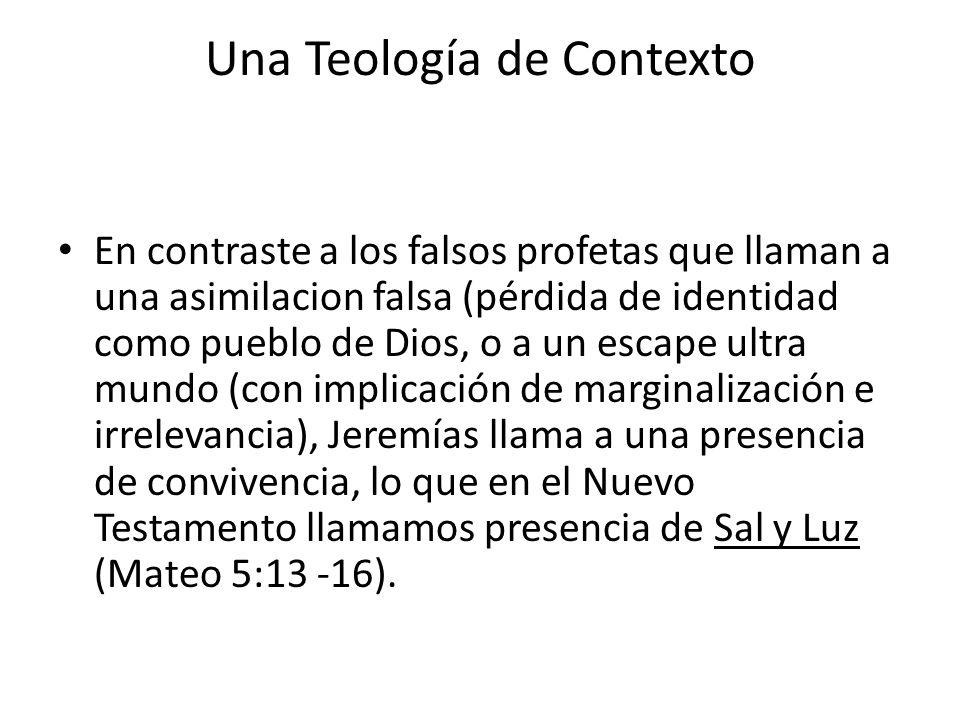 Una Teología de Contexto