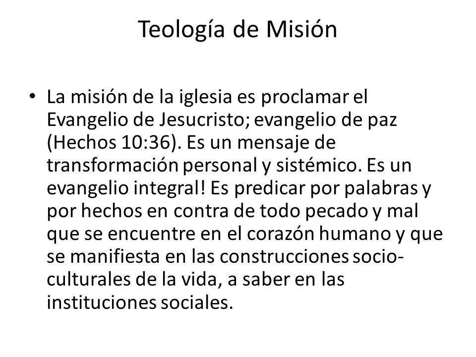 Teología de Misión