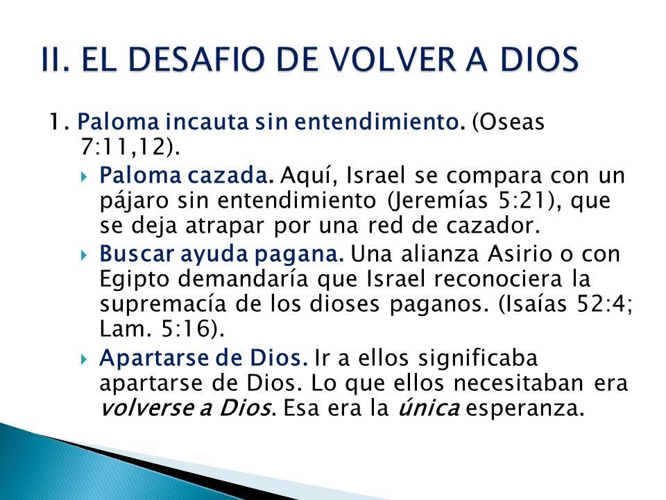 II. EL DESAFIO DE VOLVER A DIOS
