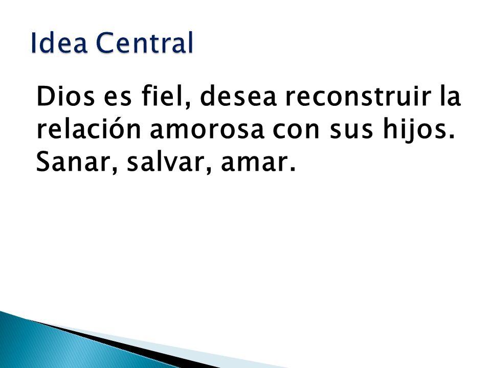 Idea Central Dios es fiel, desea reconstruir la relación amorosa con sus hijos.