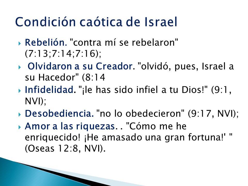 Condición caótica de Israel