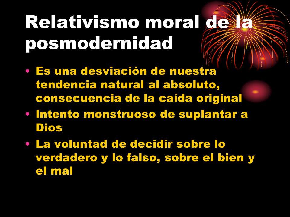 Relativismo moral de la posmodernidad
