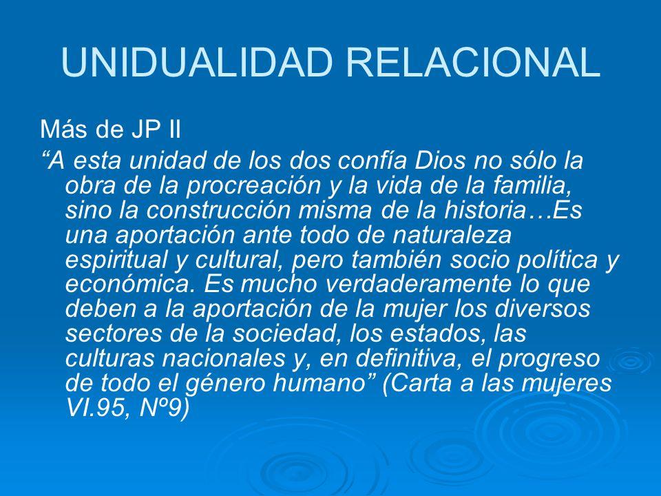 UNIDUALIDAD RELACIONAL