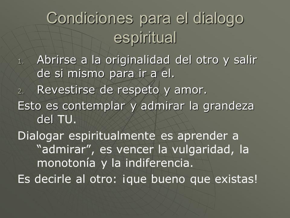 Condiciones para el dialogo espiritual