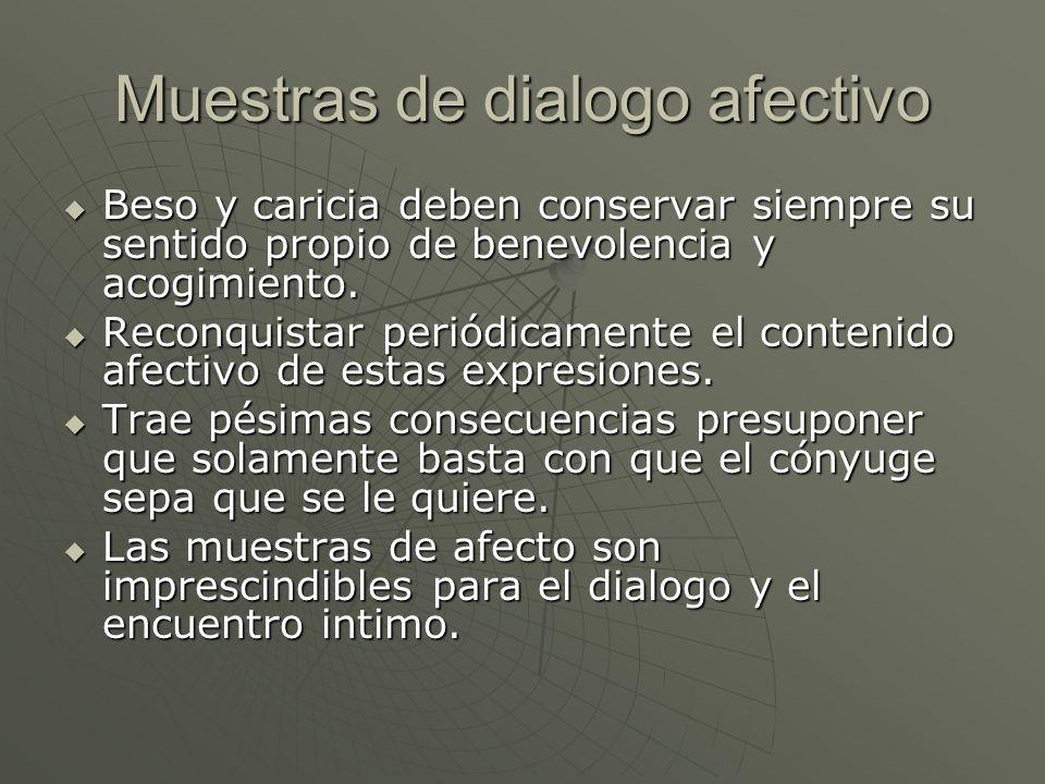 Muestras de dialogo afectivo