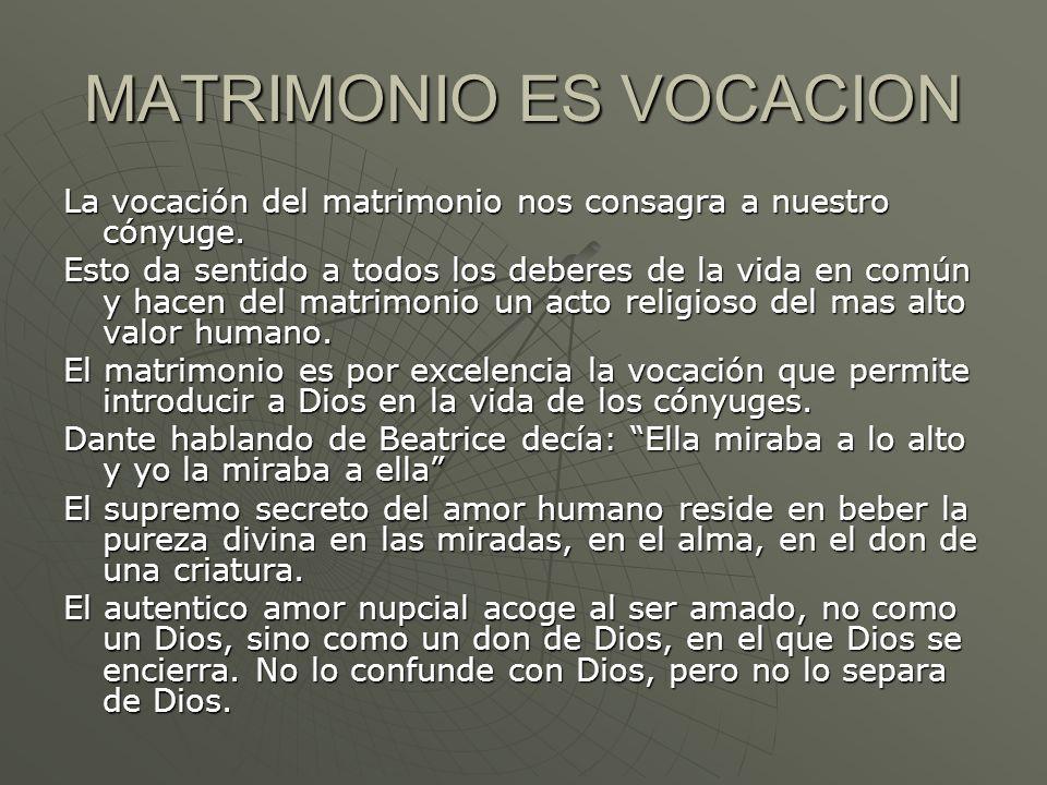 MATRIMONIO ES VOCACION
