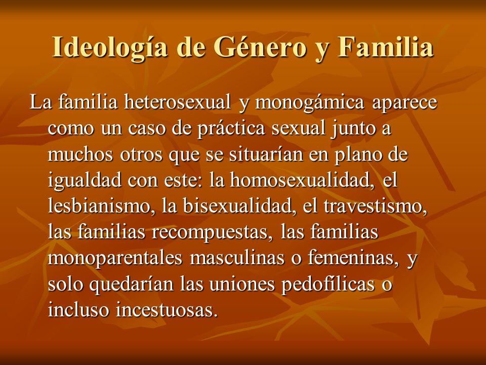 Ideología de Género y Familia