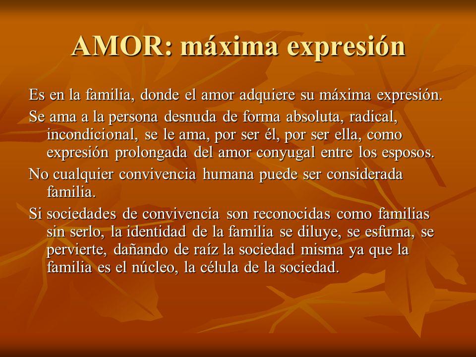 AMOR: máxima expresión