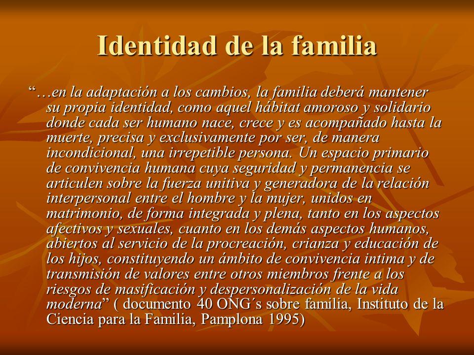 Identidad de la familia