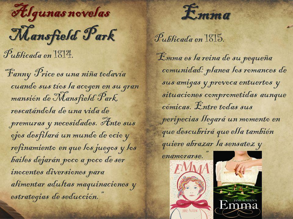 Emma Mansfield Park Algunas novelas