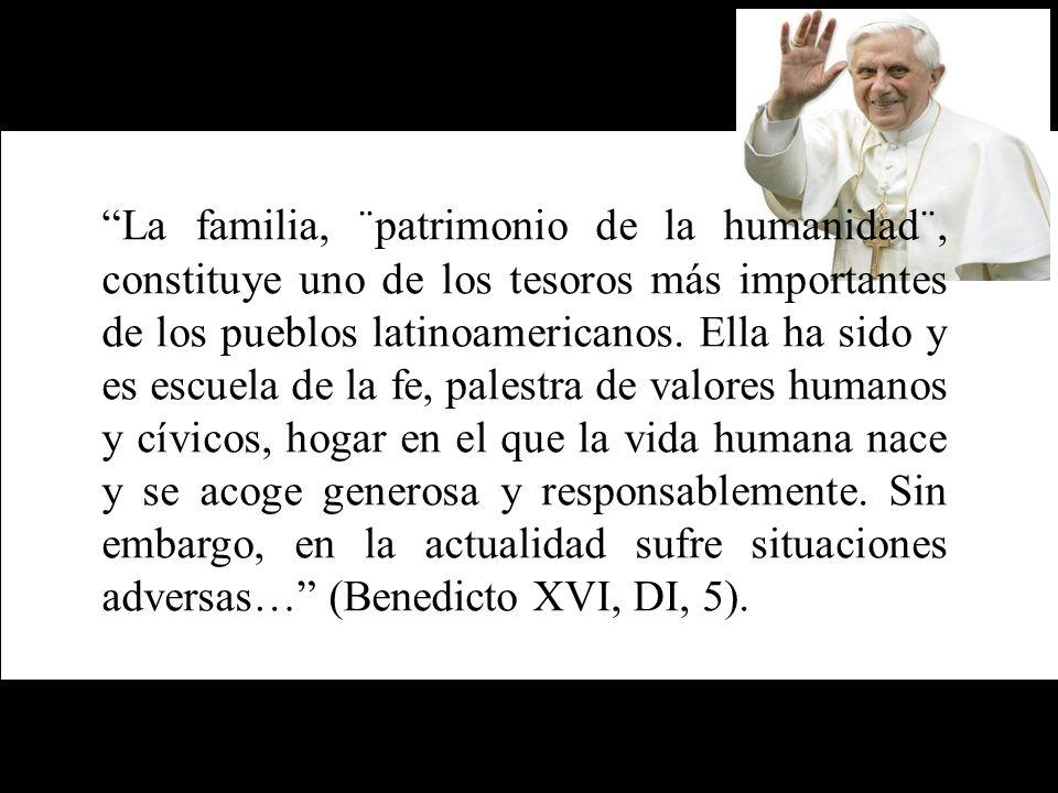 La familia, ¨patrimonio de la humanidad¨, constituye uno de los tesoros más importantes de los pueblos latinoamericanos.