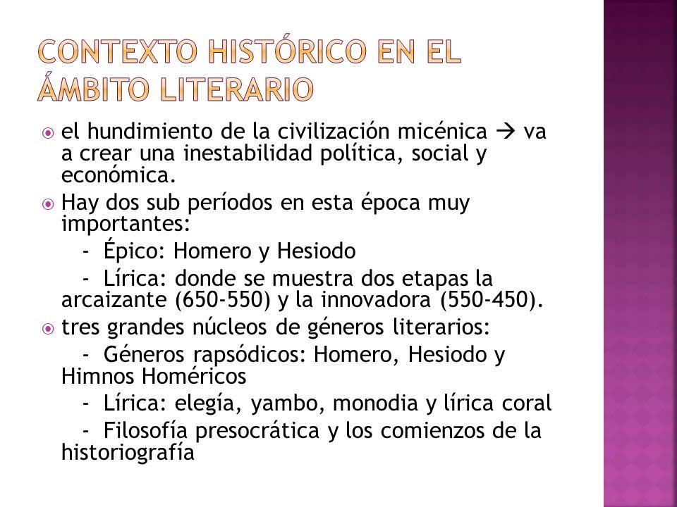 Contexto histórico en el ámbito literario