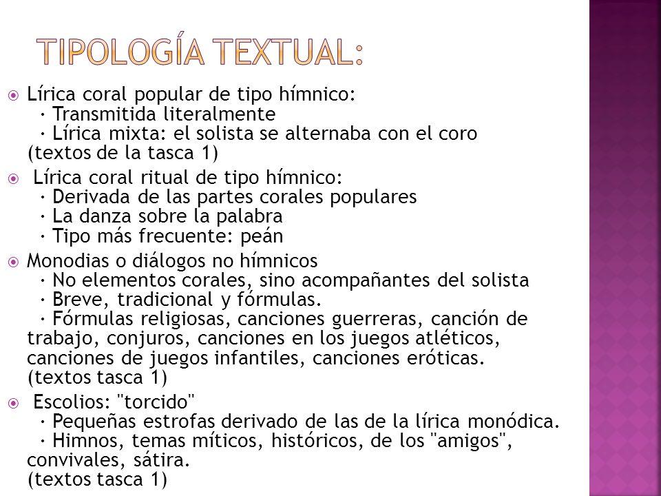 Tipología textual: