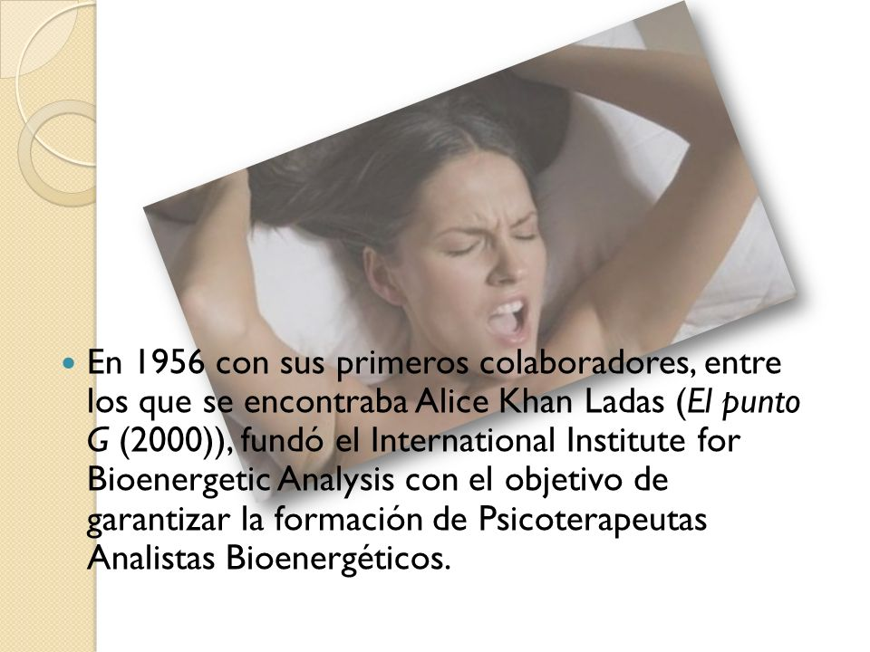 En 1956 con sus primeros colaboradores, entre los que se encontraba Alice Khan Ladas (El punto G (2000)), fundó el International Institute for Bioenergetic Analysis con el objetivo de garantizar la formación de Psicoterapeutas Analistas Bioenergéticos.