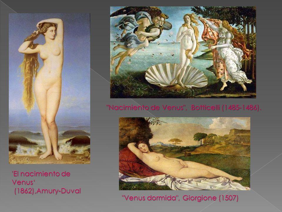 Nacimiento de Venus , Botticelli (1485-1486).