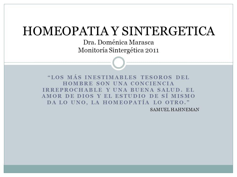 HOMEOPATIA Y SINTERGETICA Dra