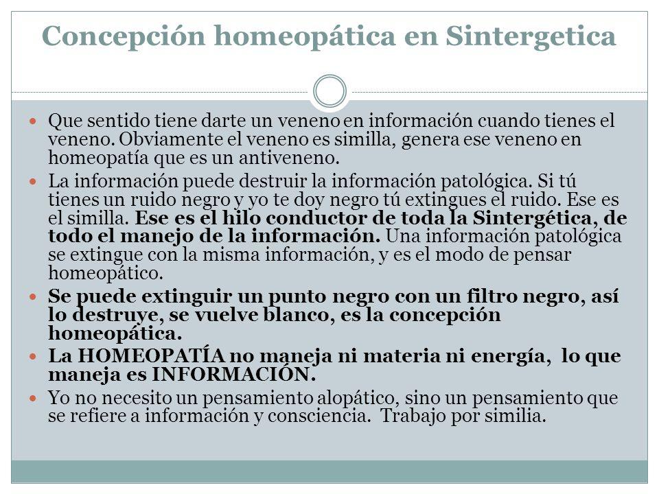 Concepción homeopática en Sintergetica
