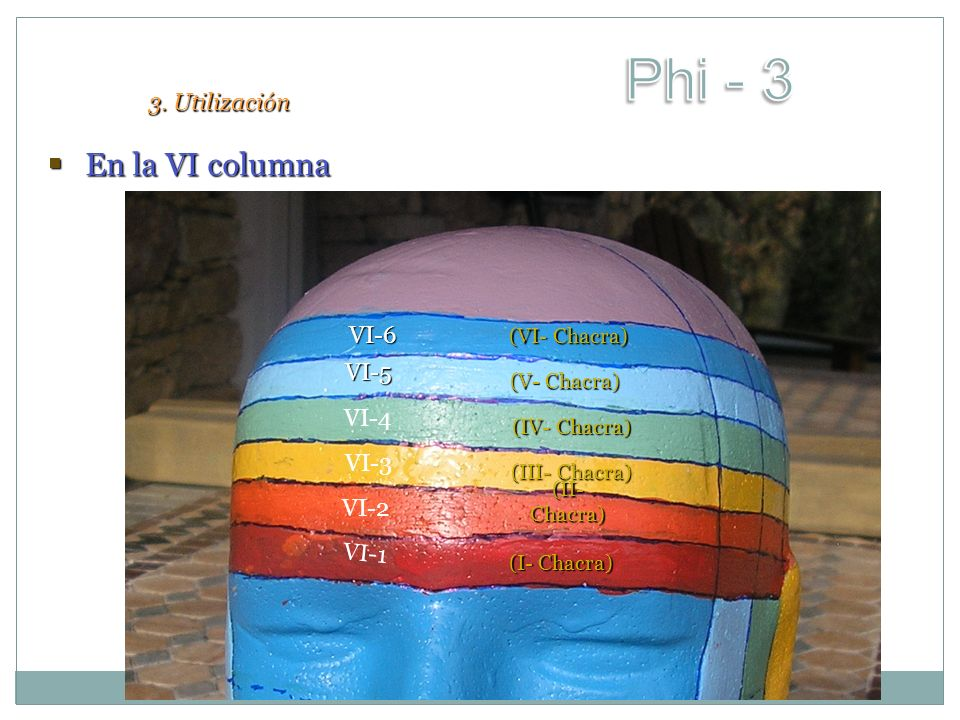 Phi - 3 En la VI columna 3. Utilización VI-6 VI-5 VI-4 VI-3 VI-2 VI-1