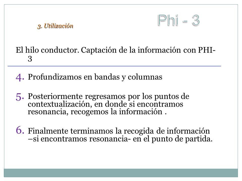 Phi - 3 El hilo conductor. Captación de la información con PHI-3