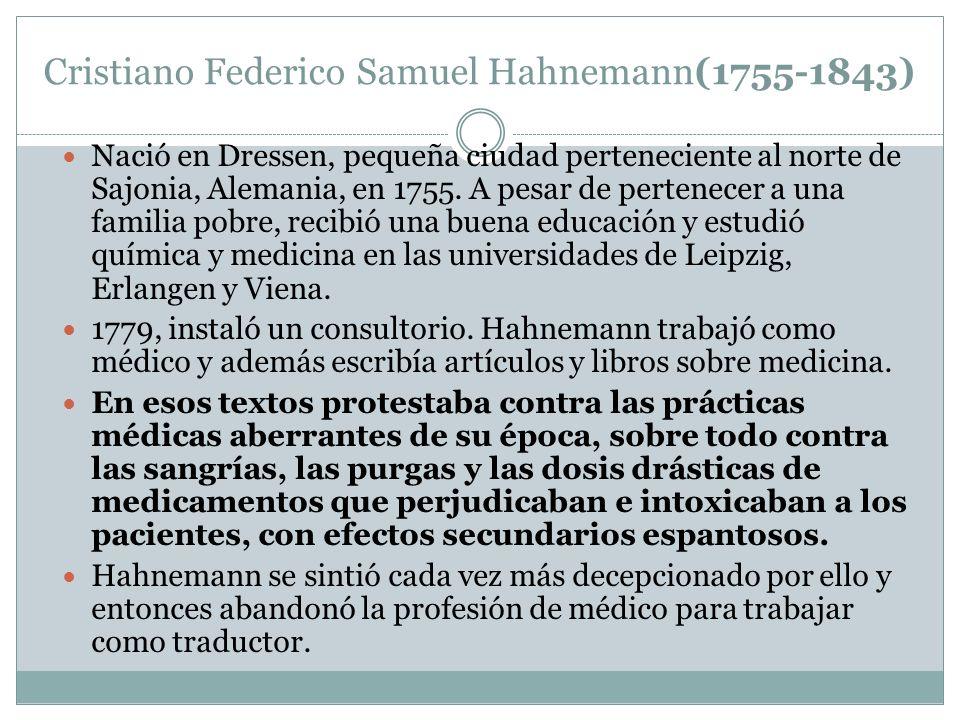 Cristiano Federico Samuel Hahnemann(1755-1843)