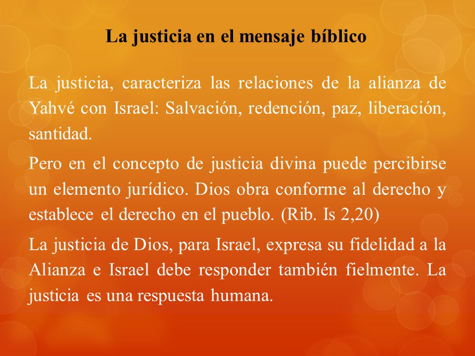 La justicia en el mensaje bíblico