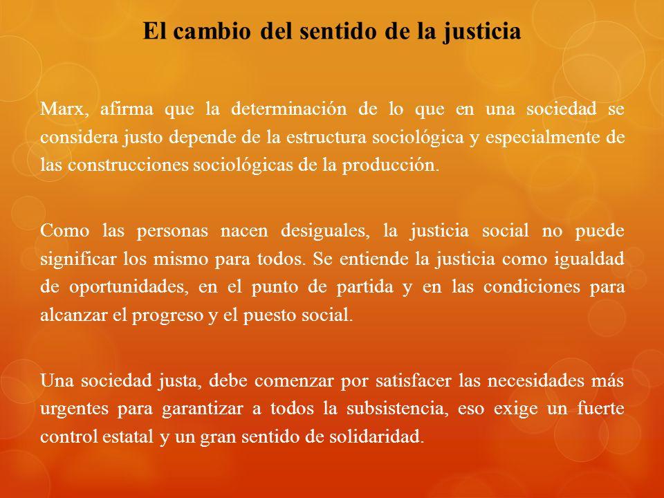 El cambio del sentido de la justicia